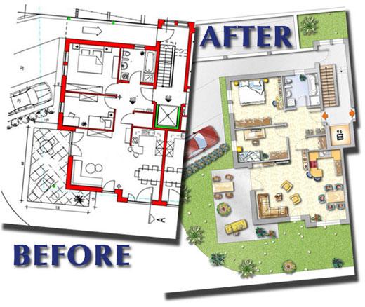 before after. floor plan creator program